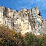 Manutenzione vie di arrampicata alla Pietra